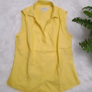 FOXCROFT Yellow collared sleeveless Top